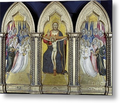 The Trinity With Angels Metal Print by Granger