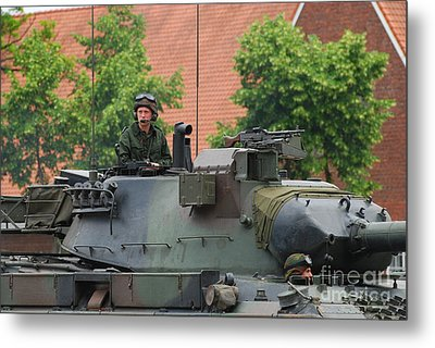 The Turret Of The Leopard 1a5 Main Metal Print by Luc De Jaeger