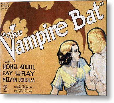 The Vampire Bat, Fay Wray, Lionel Metal Print by Everett