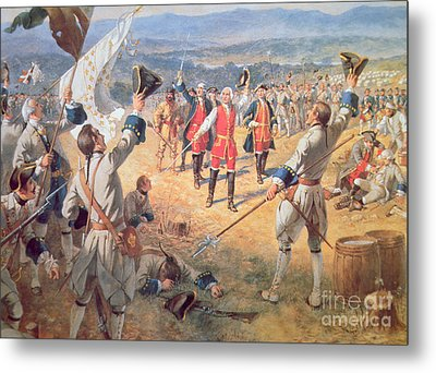 The Victory Of Montcalms Troops At Carillon Metal Print by Henry Alexander Ogden