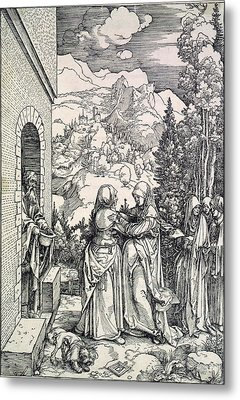 The Visitation, The Virgin And St Metal Print by Everett