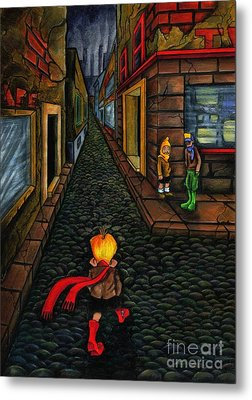 The Walk Of Loneliness Metal Print by Spencer Bower