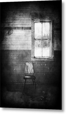 The Wallflowers Seat  Metal Print by JC Photography and Art
