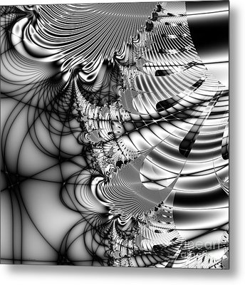 The Web We Weave . Square Metal Print by Wingsdomain Art and Photography