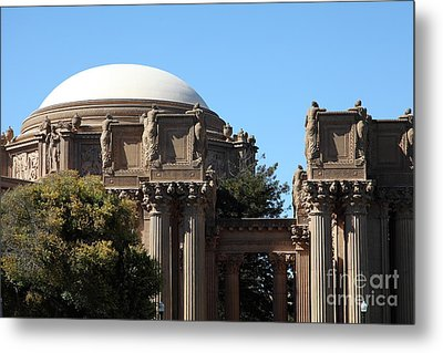 The Weeping Maidens Of The San Francisco Palace Of Fine Arts - 5d18305 Metal Print by Wingsdomain Art and Photography