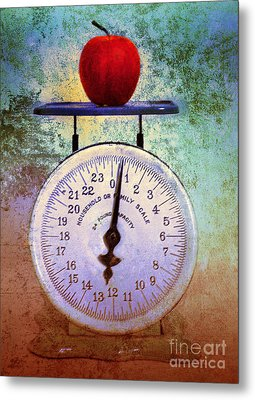 The Weight Of An Apple Metal Print by Tara Turner
