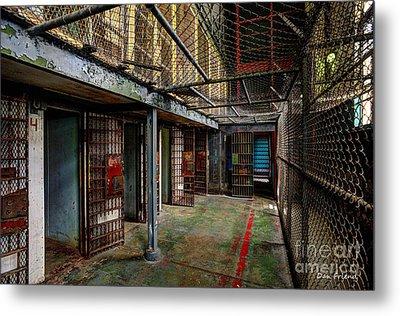 The West Virginia State Penitentiary Cells Metal Print by Dan Friend