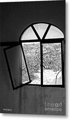 The Window Metal Print by Cheryl Young