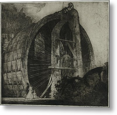 The Worlds Largest Water Wheel Powered Metal Print by Everett