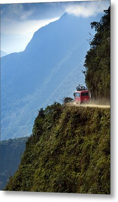 The World's Most Dangerous Road, Bolivia Metal Print by John Coletti