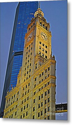 The Wrigley Building Metal Print by Mary Machare