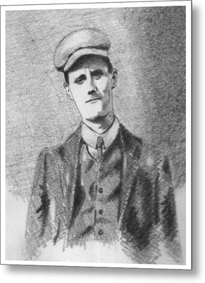 The Young James Joyce Metal Print by John  Nolan