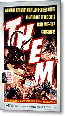 Them 1954, Poster Art Metal Print by Everett