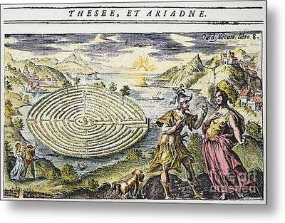 Theseus & Ariadne Metal Print by Granger