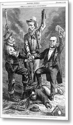 This Is A White Mans Government. An Metal Print by Everett