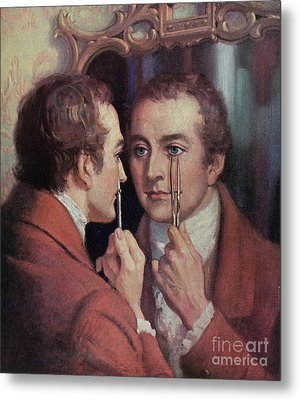Thomas Young, English Polymath Metal Print by Science Source