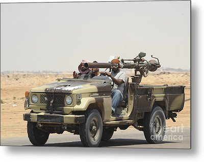 Three Rebel Fighters In A 4x4 Metal Print by Andrew Chittock