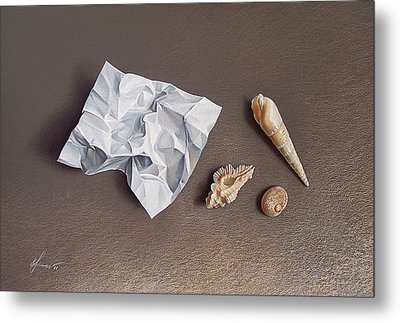 Three Shells For Collection Metal Print by Elena Kolotusha