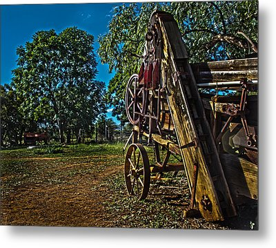 Threshing Machine Metal Print by Ronel Broderick