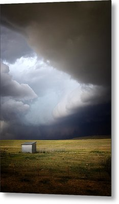 Thunderstorm Over The Plains Metal Print by Ellen Heaverlo
