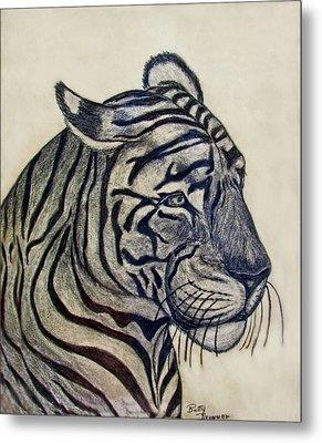 Tiger I Metal Print by Debbie Portwood