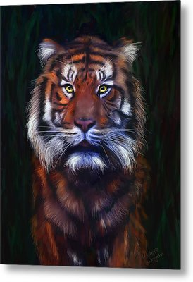 Tiger Tiger Metal Print by Michelle Wrighton