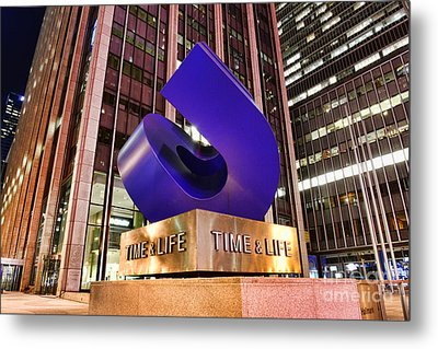 Time And Life Curved Cube Metal Print by Paul Ward