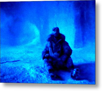 Time Stopped In A Huge Snow Ice  Grotte Metal Print by Colette V Hera  Guggenheim