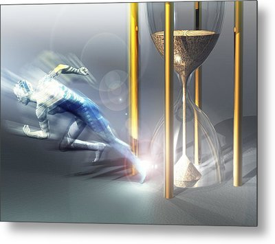 Time Travel, Conceptual Artwork Metal Print by Laguna Design
