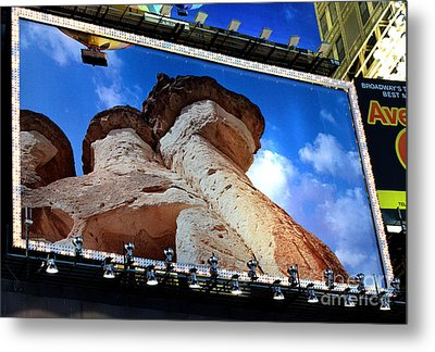 Times Square Billboards Metal Print by Pravine Chester