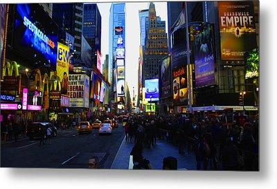 Times Square Nyc Metal Print by Moz Art