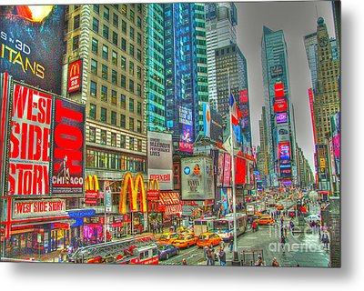 Times Square One Metal Print by Alberta Brown Buller