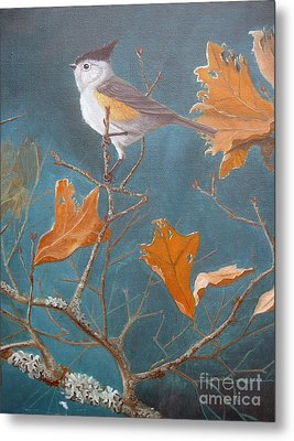 Titmouse Metal Print by Rick Mittelstedt