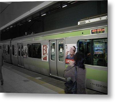 Tokyo Metro Metal Print by Naxart Studio