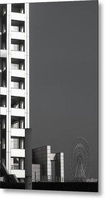 Tokyo's Devil's Wheel Metal Print by Naxart Studio