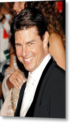 Tom Cruise At Departures For Annual Metal Print by Everett