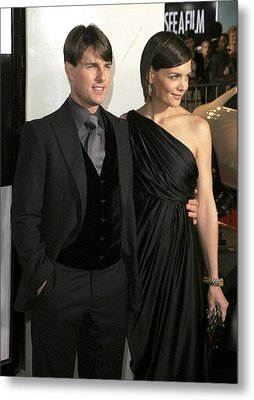 Tom Cruise, Katie Holmes Wearing Metal Print by Everett