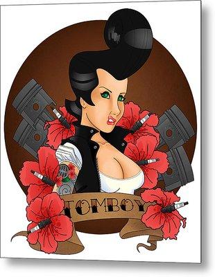 Tomboy Metal Print by Trissa Tilson