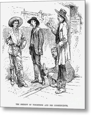 Tombstone Sheriff, 1883 Metal Print by Granger