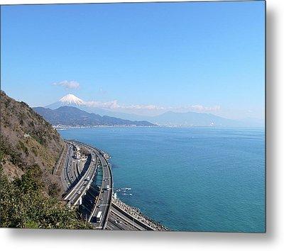 Tomei Expressway With Mt. Fuji Metal Print by Bun Buku
