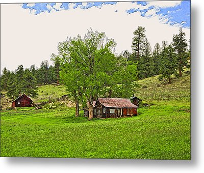 Tom's Old Cabin Metal Print by James Steele