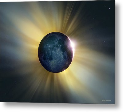 Total Solar Eclipse Metal Print by Detlev Van Ravenswaay