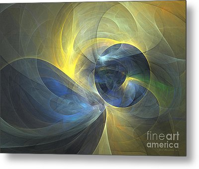 Touch Me - Abstract Art Metal Print by Abstract art prints by Sipo