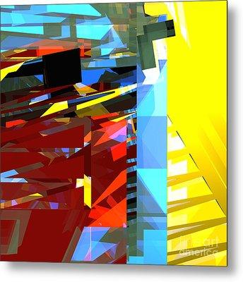 Tower Series 32 Golden Stairway Metal Print by Russell Kightley