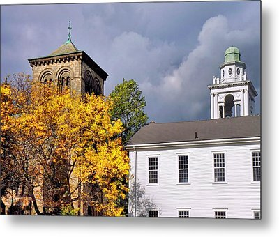 Town Square Metal Print by Janice Drew