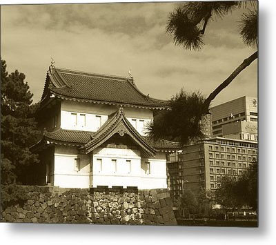 Traditional Building In Tokyo Metal Print by Naxart Studio