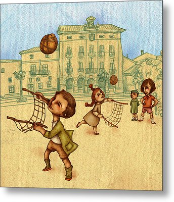 Traditional Game 2 Metal Print by Autogiro Illustration
