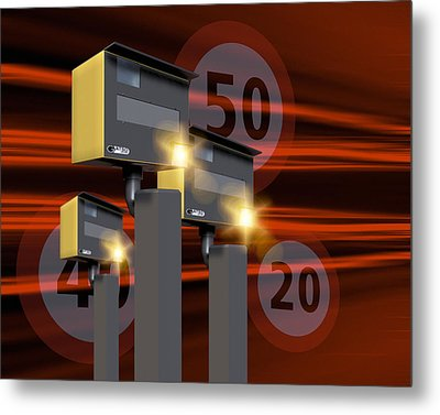 Traffic Speed Cameras Metal Print by Victor Habbick Visions