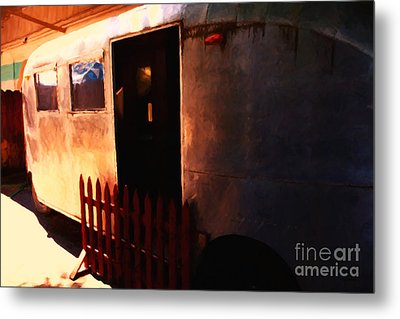 Trailer Park - Painterly - 5d16585 Metal Print by Wingsdomain Art and Photography