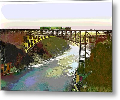Train Trussel Metal Print by Charles Shoup